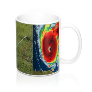 Ceramic Mug 11oz - Trump plays Golf (and how!) while Hurricane Dorian approaches the East Coast - made in USA - Yunque Store