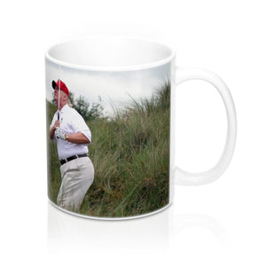 Ceramic Mug 11oz - Trump plays Golf while Hurricane Dorian approaches the East Coast - made in USA - Yunque Store
