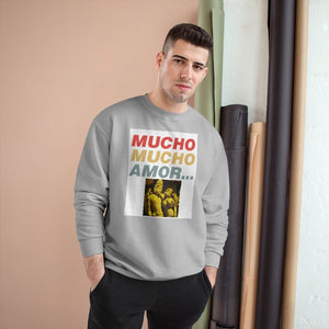 Champion Sweatshirt S600 -- MUCHO 💘 MUCHO AMOR ... (Lots, Lots of Love) - Featuring India's Ancient Tantric Temples Images - USA MADE - Yunque Store