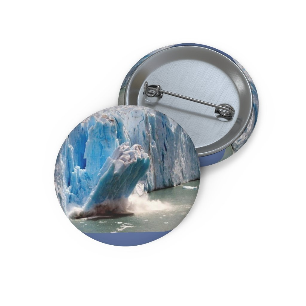 Cheap Pin Buttons - Made in USA in 2 days - The Polar ice melts due to Global Warming - Yunque Store