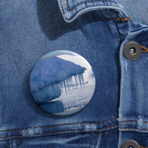 Cheap Pin Buttons - Made in USA in 2 days - The Polar ice melts due to Global Warming Accessories Printify