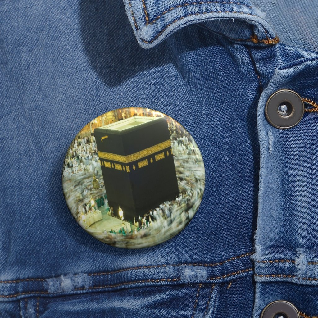 Custom Pin Buttons - Devout Muslims in the Hajj in Mecca UAE - Yunque Store