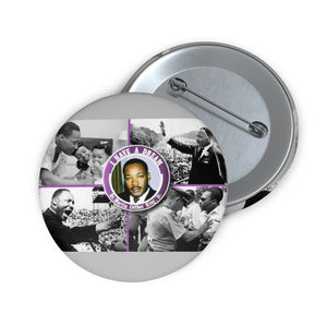 Custom Pin Buttons - DR. MARTIN LUTHER KING JR. - GREAT MOMENTS OF A GREAT SOUL - Yunque Store