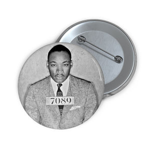 Custom Pin Buttons - DR. MARTIN LUTHER KING JR. - GREAT MOMENTS OF A GREAT SOUL - Jailed in protest - Yunque Store
