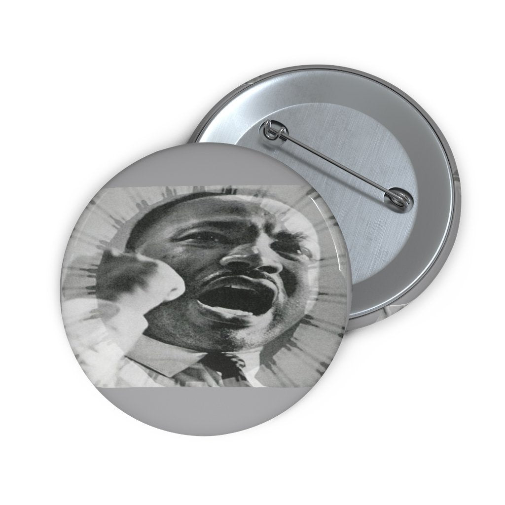 Custom Pin Buttons - DR. MARTIN LUTHER KING JR. - NOBEL PEACE PRIZE 1964 - IN FIERY SPEECH - Yunque Store