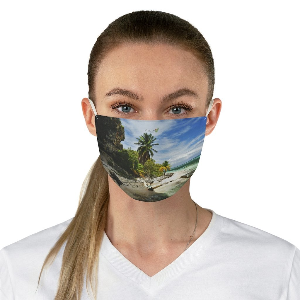 DEAL $6 - Yunque.Store RADIANT BEAUTY 🌈 Reusable Cloth Face Masks - Be Safe - Awesome tropical beach Mona Island 🌊 Puerto Rico - Yunque Store