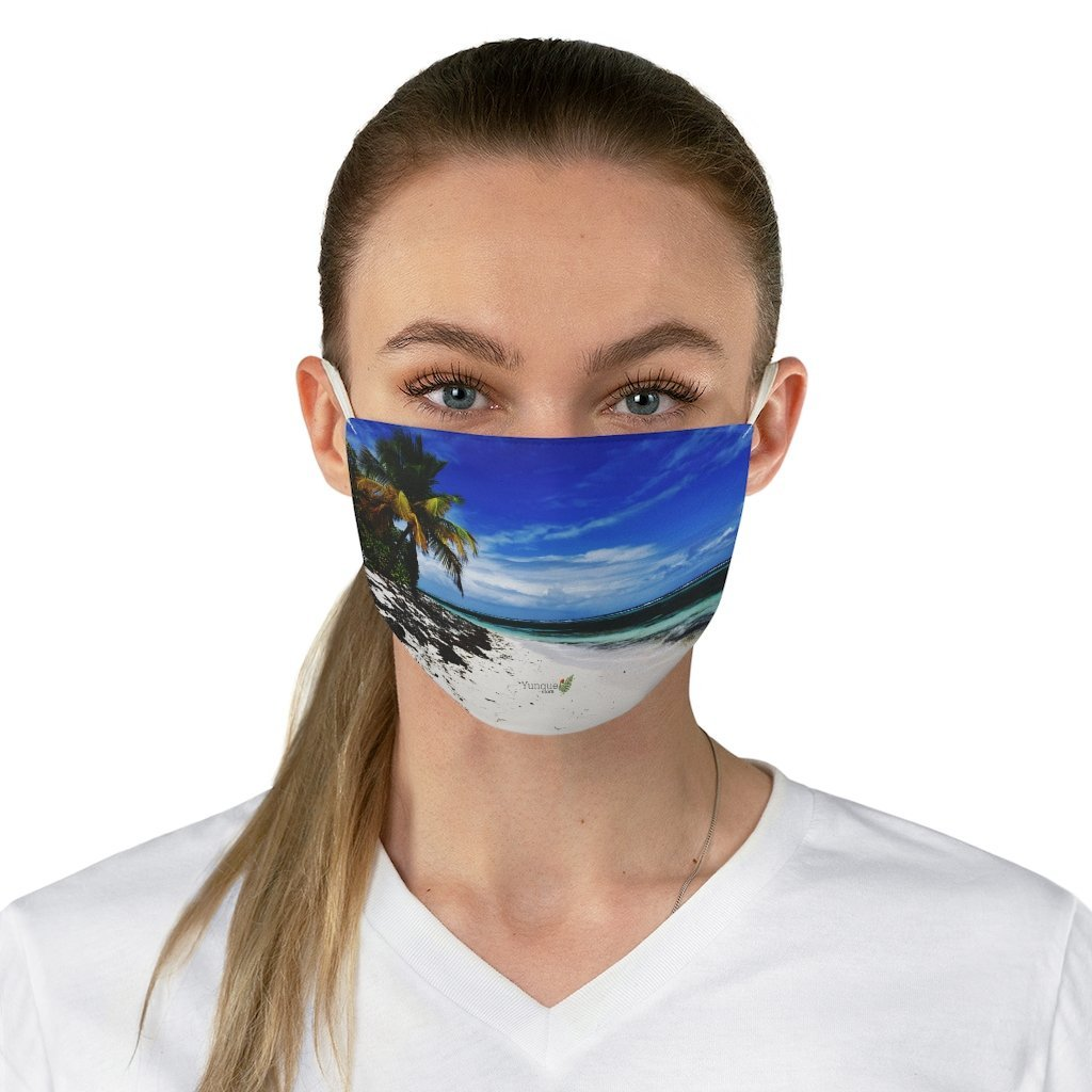 DEAL $6 - Yunque.Store RADIANT BEAUTY 🌈 Reusable Cloth Face Masks - Be Safe 👩‍⚕️👨‍⚕️ - Awesome tropical beach Mona Island 🌊 Puerto Rico - Yunque Store