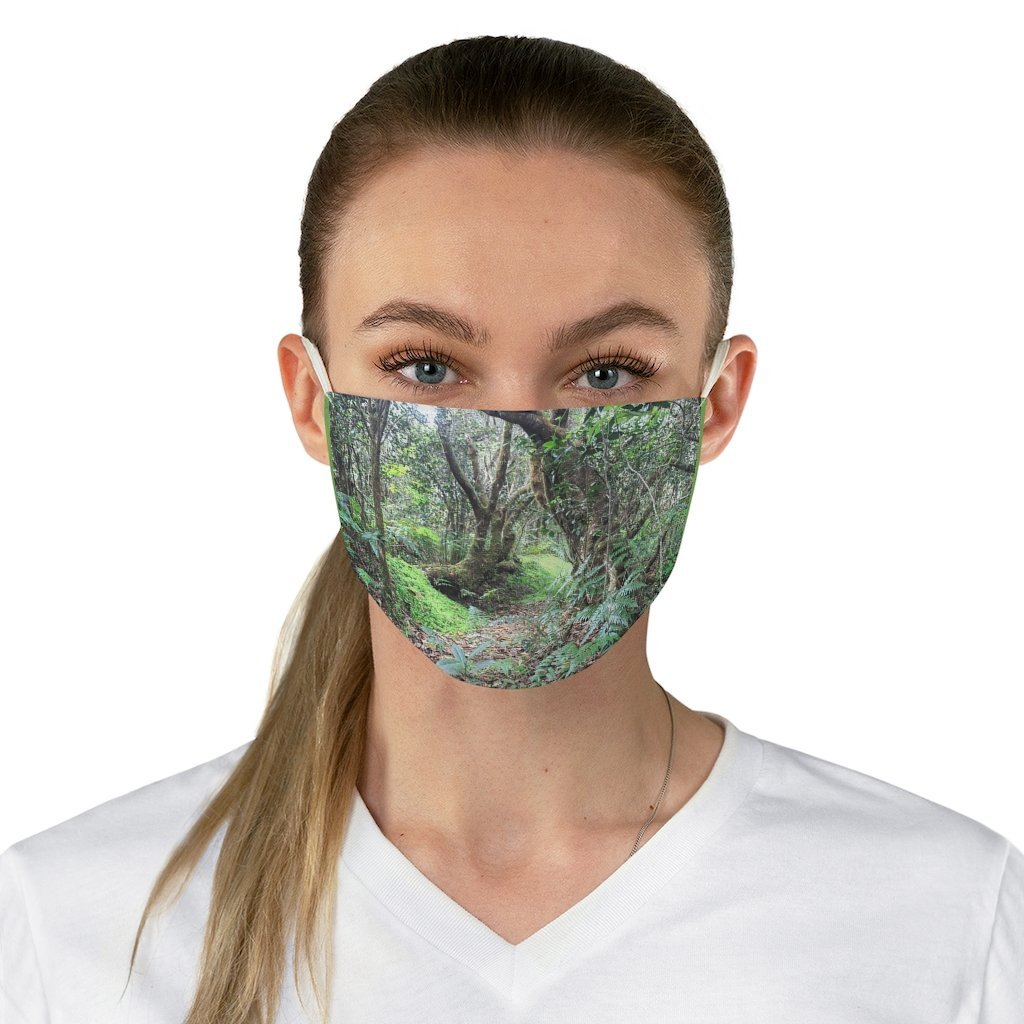DEAL $6 - Yunque.Store RADIANT BEAUTY 🌈 Reusable Cloth Face Masks - Be Safe - Awesome tropical 🐱‍🐉 El Yunque Rainforest Paradise in Tradewinds Trail - Puerto Rico 🐸 - Yunque Store