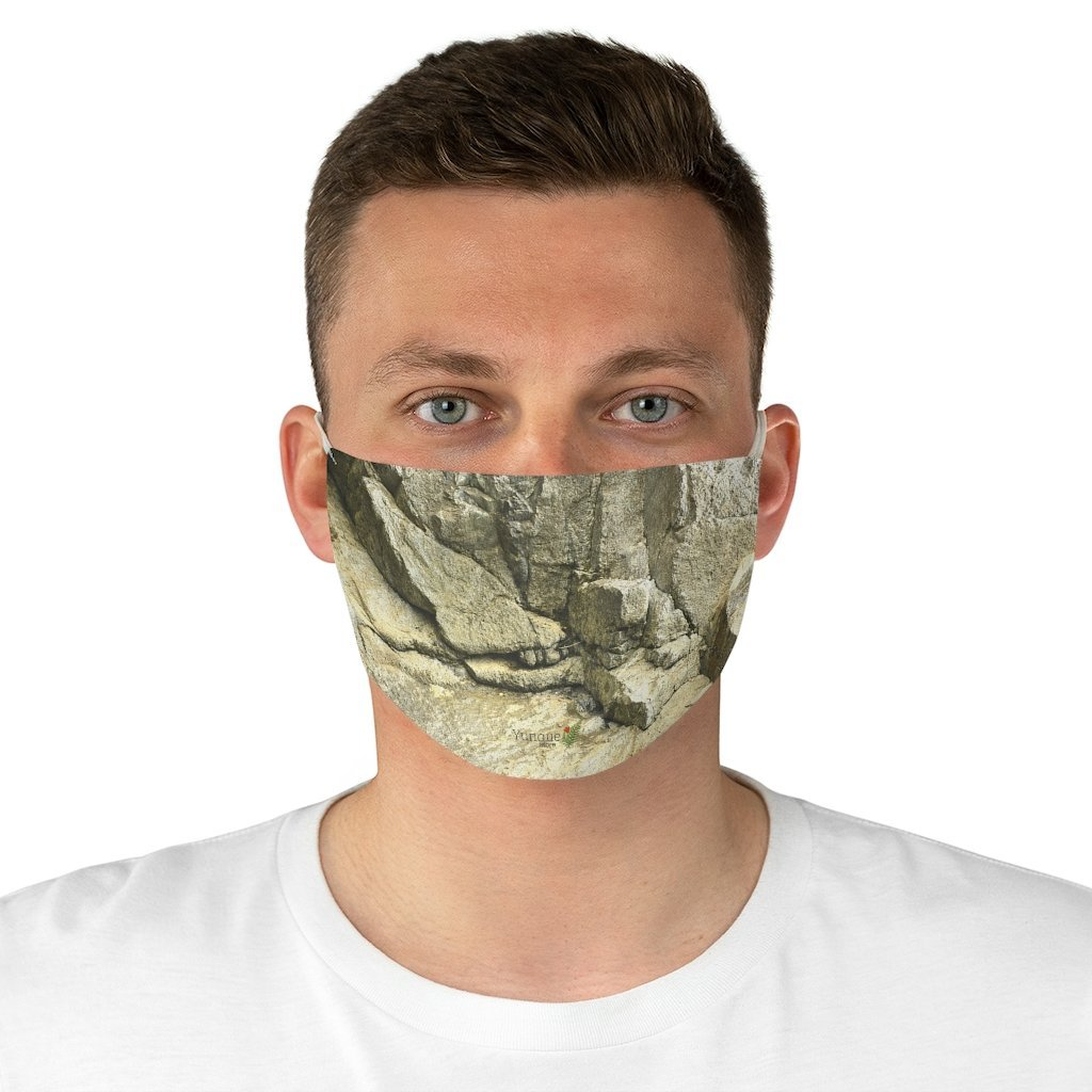 DEAL $6 - Yunque.Store RADIANT BEAUTY 🌈 Reusable Cloth Face Masks - Be Safe - Awesome tropical 🐱‍🐉 El Yunque Rainforest River boulder cracked by flash floods- Puerto Rico 🐸 - Yunque Store