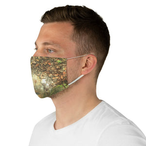 DEAL $6 - Yunque.Store RADIANT BEAUTY 🌈 Reusable Cloth Face Masks - Be Safe - Awesome tropical 🐱‍🐉 El Yunque Rainforest trail ground after rain - Puerto Rico 🐸 - Yunque Store