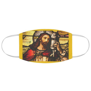 DEAL $6 - Yunque.Store RADIANT BEAUTY 🌈 Reusable Cloth Face Masks - Be Safe - Jesus Chirst in church window🙏 - Yunque Store