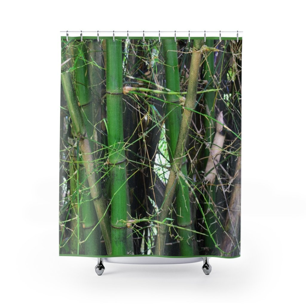 Deals - Shower Curtains - Bamboo trunks on Rio Sabana Park - El Yunque rain forest PR - Yunque Store