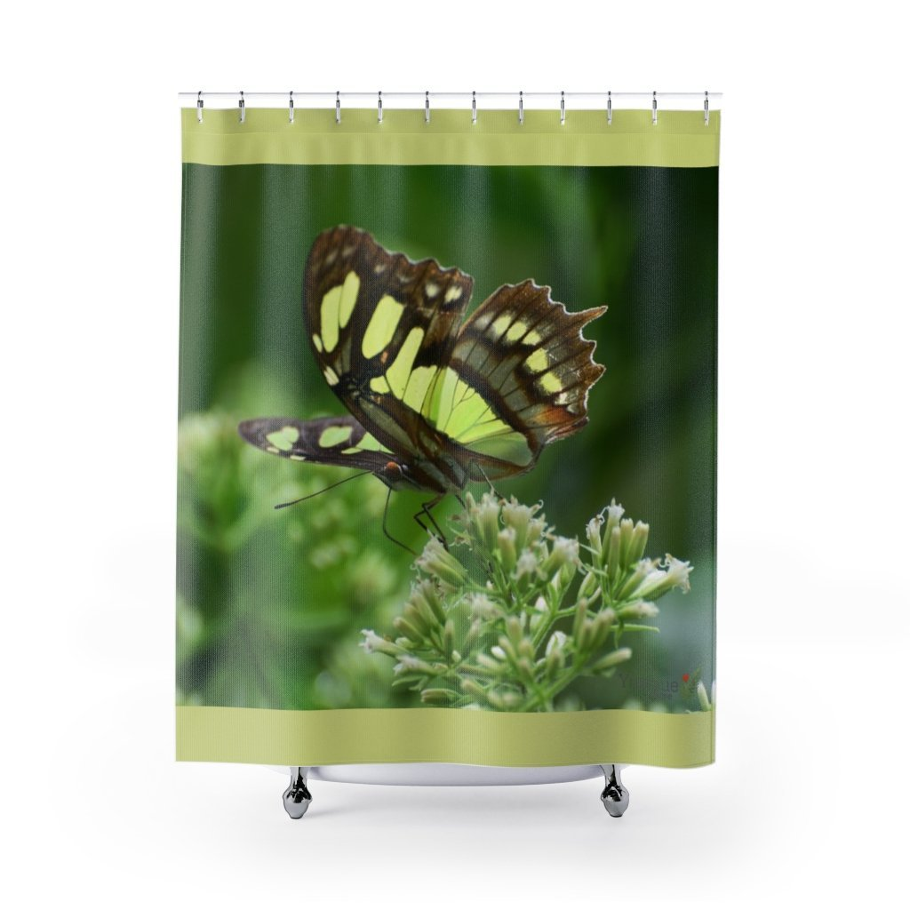 Deals - Shower Curtains - Beautiful butterfly near - River in Sabana Park - El Yunque rain forest PR - Yunque Store