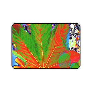 Desk Mat USA MADE 👨‍👩‍👧‍👧 Unisex Heavy Cotton Tee - Unique images of Yagrumo Tree & leafs from El Yunque rainforest PR - Alien 👽 Vision - Yunque Store