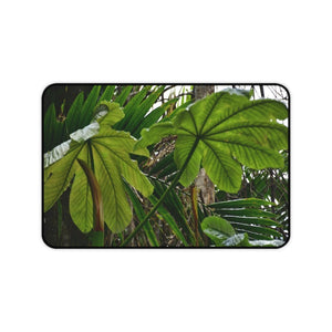 Desk Mat USA MADE 👨‍👩‍👧‍👧 Unisex Heavy Cotton Tee - Unique images of Yagrumo Tree & leafs from El Yunque rainforest PR - Human 👩‍🦰 Vision - Yunque Store