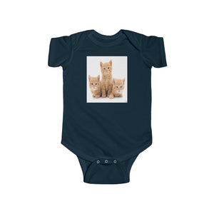 🐱 A Steal for $16.99 - UK Print - 🛀 Infant Fine Jersey Cotton Bodysuit - It's a HARD Cat's Life