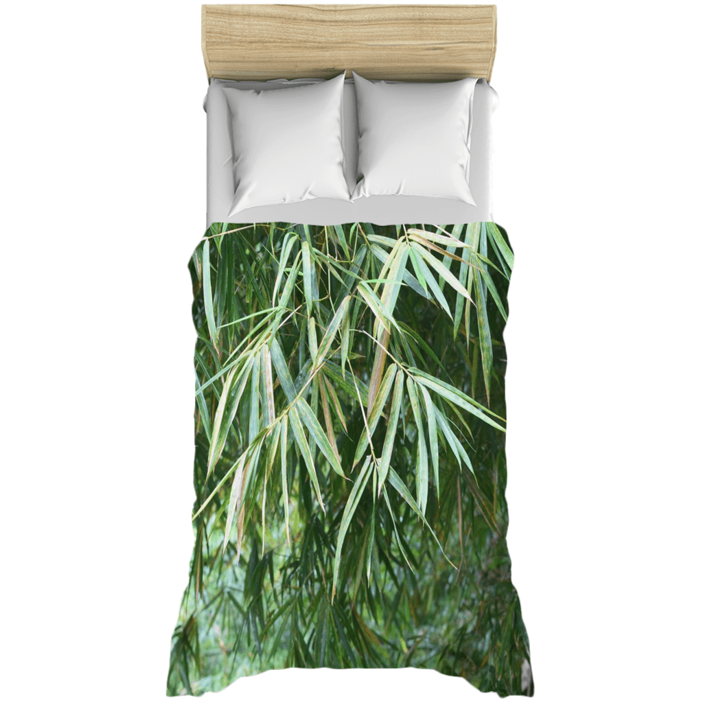 Duvet Covers - Bamboo tree and leaves in Rio Sabana park - El Yunque rain forest AwsomeRainForest@Home