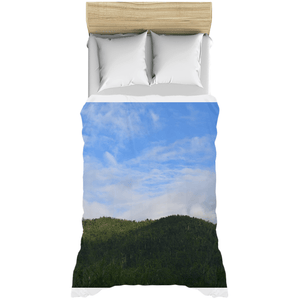 Duvet Covers - El Yunque forest a year after Hurricane Maria 140moh winds - Rio Sabana park AwsomeRainForest@Home