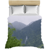 Duvet Covers - Mountain forest and waterfall on Rio Sabana Park - El Yunque rain forest PR AwsomeRainForest@Home