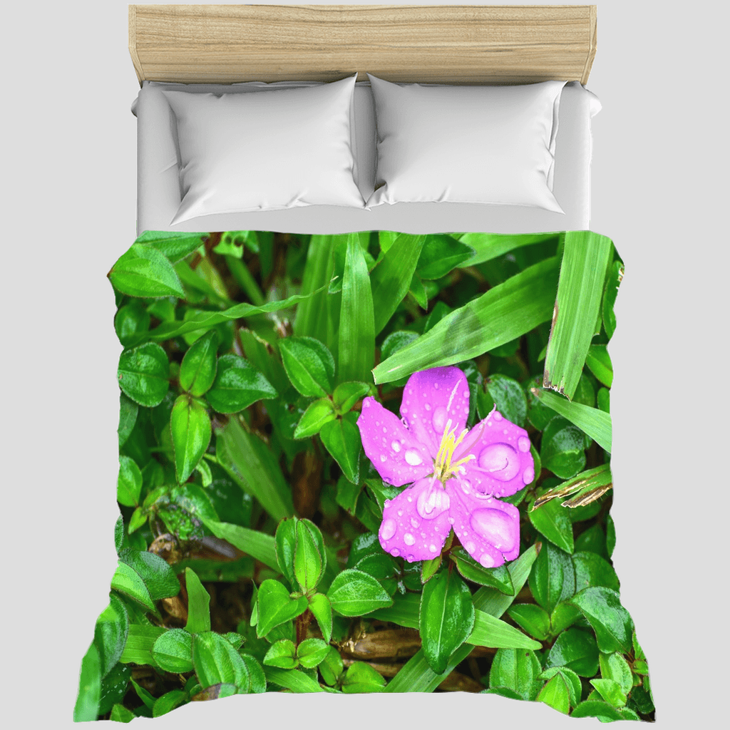 Duvet Covers - Rich foliage below Bamboos in El Yunque rain forest Puerto Rico - Yunque Store