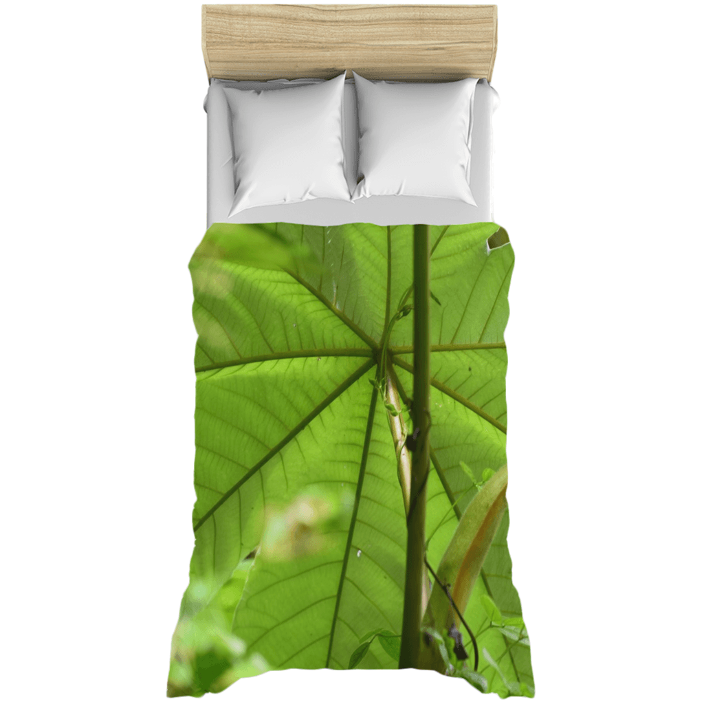 Duvet Covers - The amazing Yagrumo tree leaf - protects the forest from erosion - El Yunque PR AwsomeRainForest@Home