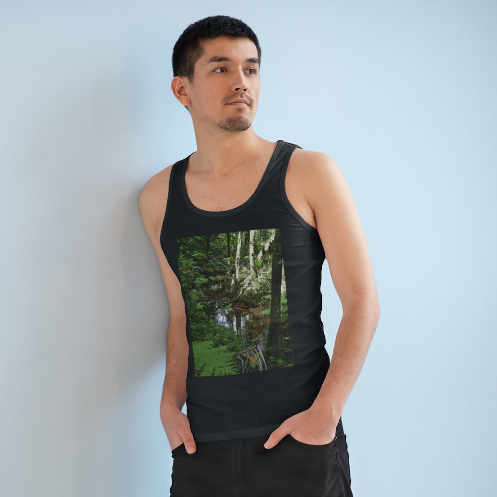 Printed in Germany - Men's Specter Tank Top - Show off the most remote, rarely seen, regions of the rainforest in Puerto Rico