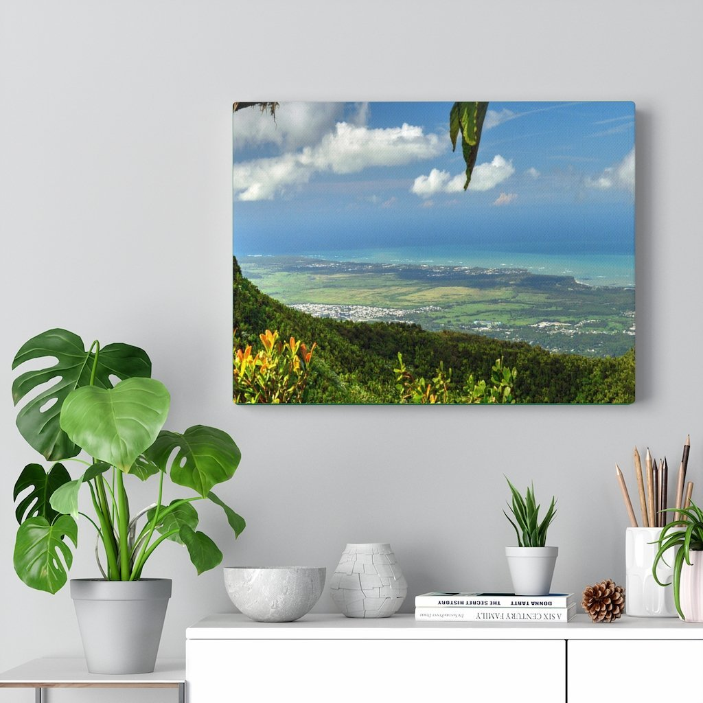 Explorations - Smaller Low-Cost Canvas Gallery Wraps - Awesome view from Tres Picachos at 3K feet - near El yunque rainforest PR - Yunque Store
