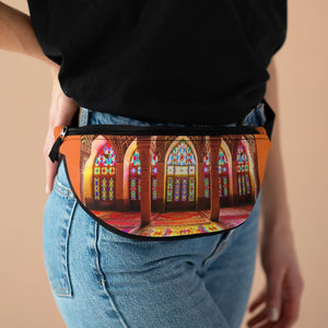 Fanny Pack with Organizer and Lightweight - Entrace of Ancient Muslim Mosque - seeing GOD in the CENTER of your life and heart radiating LOVE!.. - Yunque Store