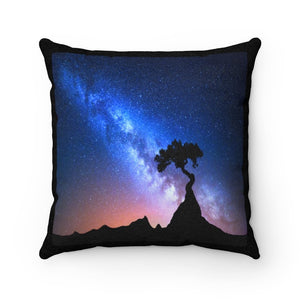 🌟 Faux Suede Square Pillow - Our Window to the UNIVERSE - the Night Sky in the desert - Yunque Store