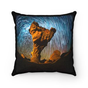 🌟 Faux Suede Square Pillow - Our Window to the UNIVERSE - the Night Sky in the desert in Peru - Yunque Store
