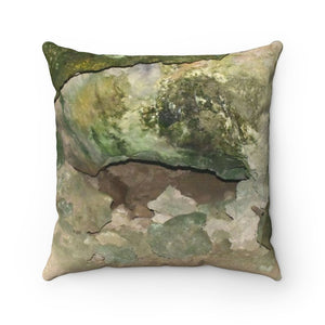 Faux Suede Square Pillow - Unique REMOTE Mona Island Caves - Galapagos of the Caribbean – Puerto Rico. - Yunque Store