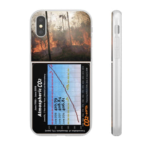 Flexi Cases - CO2 - The Keeling curve cause of Global warming - amazon forest on fire Phone Case Printify