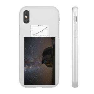 Flexi Cases - CO2 - The Keeling curve cause of Global warming - and the Hawaii Mouna Loa Observatory at night Phone Case Printify