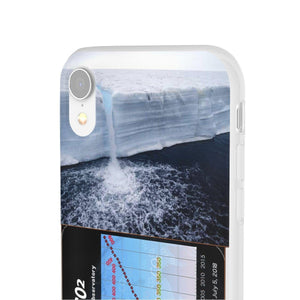 Flexi Cases - CO2 - The Keeling curve cause of Global warming - melting ice poles Phone Case Printify
