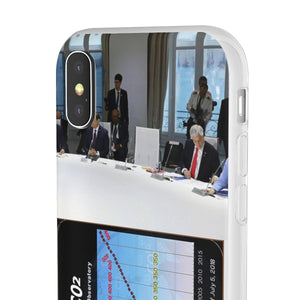 Flexi Cases - CO2 - The Keeling curve cause of Global warming - Trump skips G7 meeting on Global warming Phone Case Printify