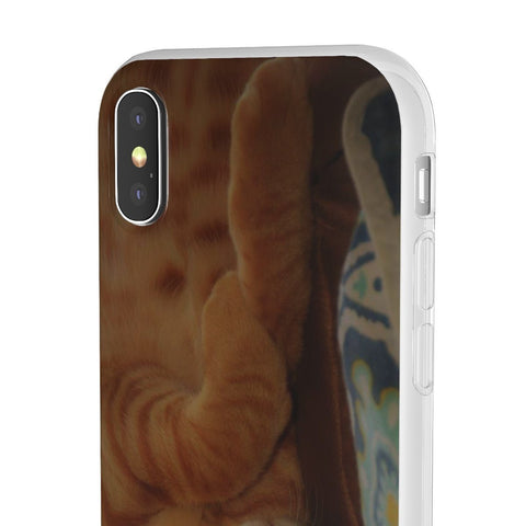 Image of Flexi Cases - Family PET - The hard-working cat named Orange - guess why? Phone Case Printify