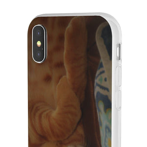 Flexi Cases - Family PET - The hard-working cat named Orange - guess why? Phone Case Printify