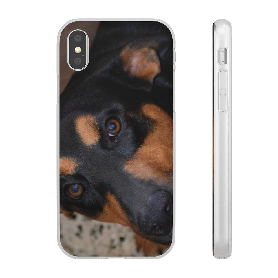 Flexi Cases - Family PETS - The forest explorer dog Firo, that likes to EAT cell phones and TV controllers! Phone Case Printify