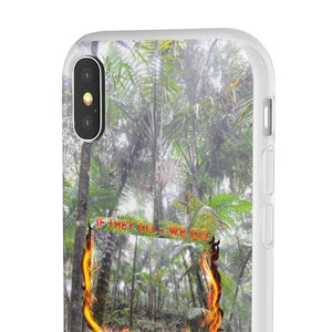 Flexi Cases - Forest burning with Cloud Forest in El Yunque rain forest PR Phone Case Printify