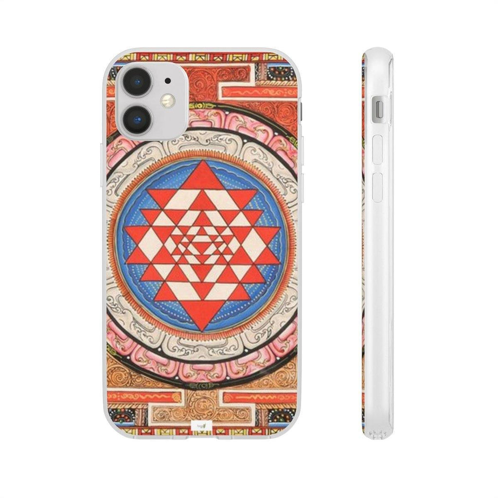 Flexi Cases - iPhone 11, Pro and Max: Yunque.Store - classic meditation Yantra to invoke Gods blessings Phone Case Printify