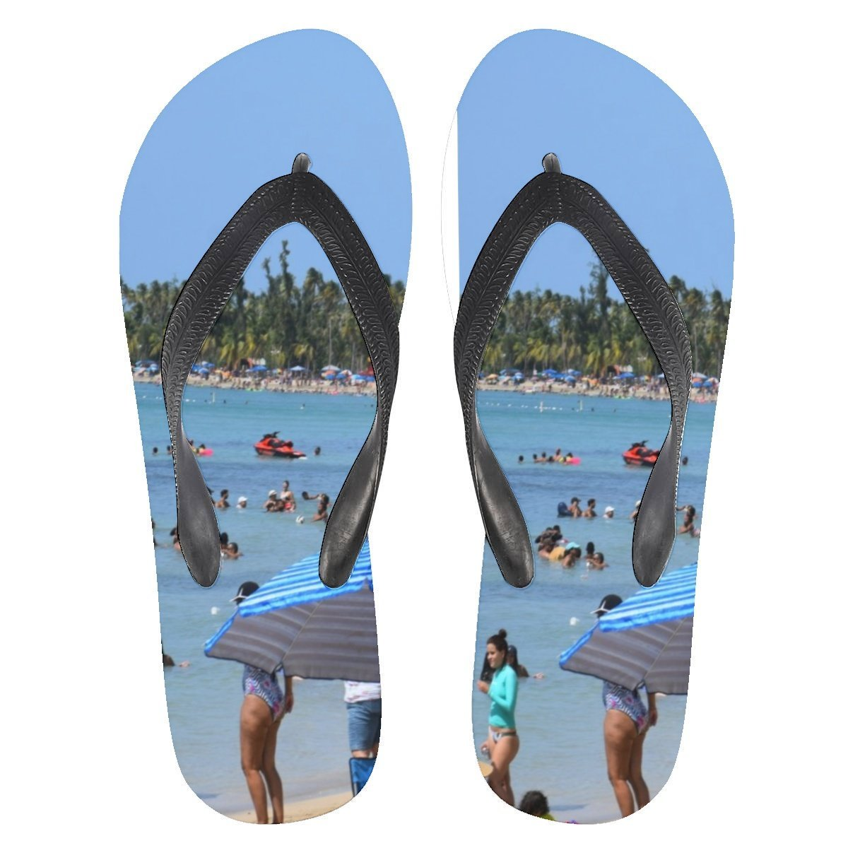 Flip Flops - Famous Luquillo beach in Puerto Rico - Yunque Store