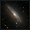 For ASTRO-FANS - GALAXIES - Premium Semi-Glossy Paper Wooden Framed Poster - HUBBLE Space Telescope - A Luminous spiral galaxy named ESO 021-G004 - a beauty! - Yunque Store