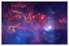 For ASTRO-FANS - GALAXIES - Premium Semi-Glossy Paper Wooden Framed Poster - HUBBLE Space Telescope - A never-before-seen view of the turbulent heart of OUR MILKY WAY galaxy - Yunque Store