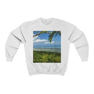FOREST - Unisex Heavy Blend™ Crewneck Sweatshirt - Awesome views from El Yunque Peak at 3K feet and forest trail sunse - El Yunque rainforest PR Sweatshirt Printify
