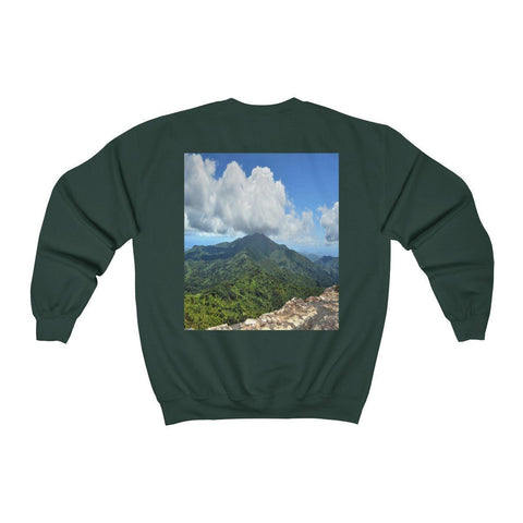 Image of FOREST - Unisex Heavy Blend™ Crewneck Sweatshirt - Awesome views from El Yunque Peak at 3K feet - El Yunque rainforest PR Sweatshirt Printify