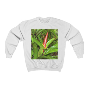 FOREST - Unisex Heavy Blend™ Crewneck Sweatshirt - The Bromeliad and The East Peak from Mt Britton tower - El Yunque rainforest PR Sweatshirt Printify