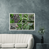 GELATO Global Print - Classic Semi-Glossy SILK Paper Wooden Framed Poster - View from PR Highest Road - PR 143 in Toro Negro Park Composite with weird plants of the forest - Yunque Store