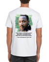 GELATO GLOBAL PRINT - Classic UNISEX Crewneck T-shirt - We celebrate Dr. Martin Luther King - Nobel Peace Prize 1964 - Quote: Injustice anywhere is a threat to justice everywhere. - Yunque Store
