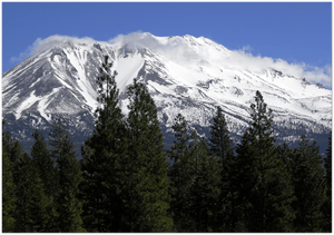 GELATO GLOBAL PRINT - Landscape Aluminum Print - A great clear day for a beautiful view of Mt Shasta in Northern California, USA - Yunque Store