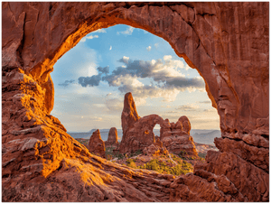 GELATO GLOBAL PRINT - Landscape Aluminum Print - Arches National - Turret Arch, North Window, in Utah, USA - Yunque Store